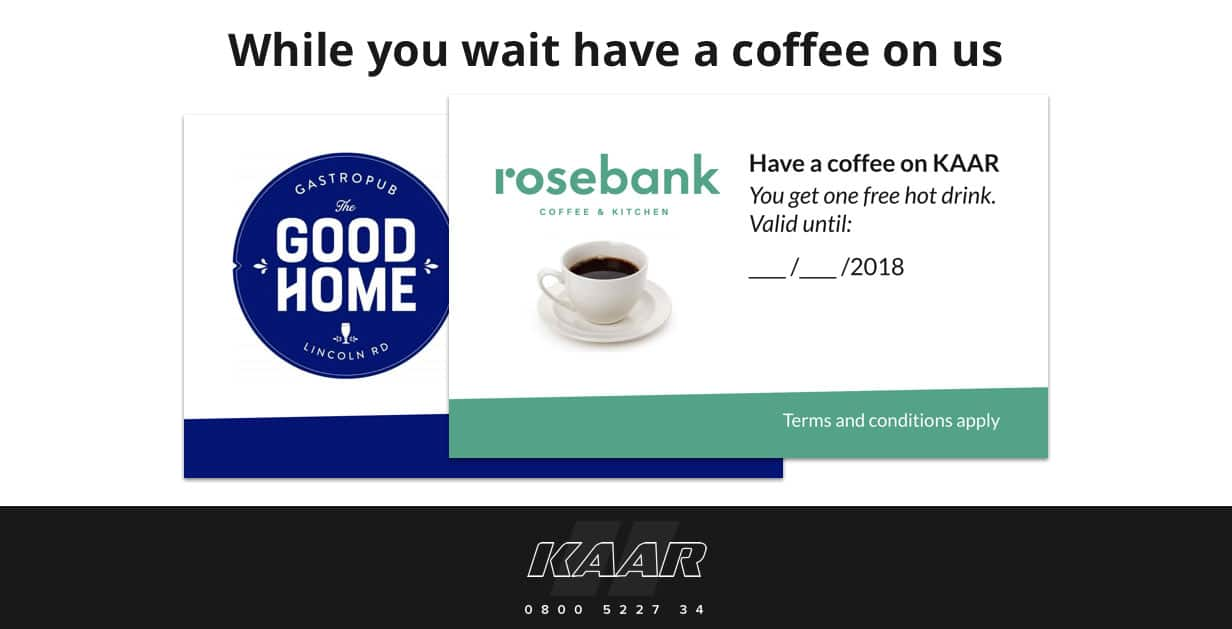 Have a free cafe coffee on us